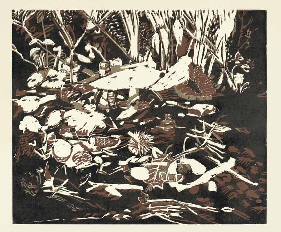 Ausstellung-2020-LvH-Brigitte-von-Savigny-02-Waldboden
